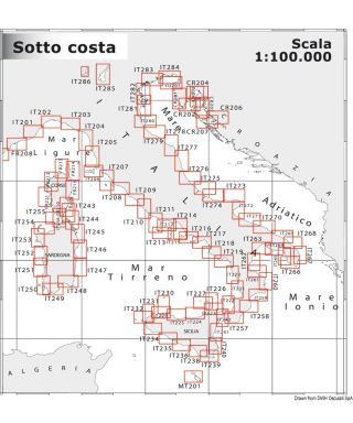 Carte Navimap IT275-IT276 De Punta Penna à Pescara