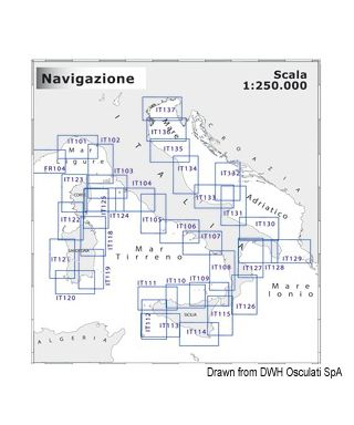 Carte Navimap IT132-IT133 De Rodi Garganico, Iles Tremiti, Lissa et Lesina