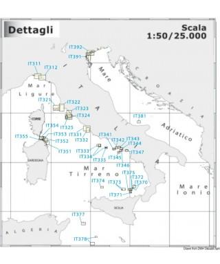 Carte Navimap IT351-IT352 De Porto Cervo au Golfo di Marinella