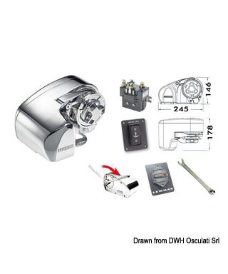 Treuil Lewmar Pro 1000 barbotin 8 mm 12V 700W bout 14-16mm