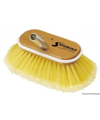 Brosse 6 pouces fibre souples jaunes