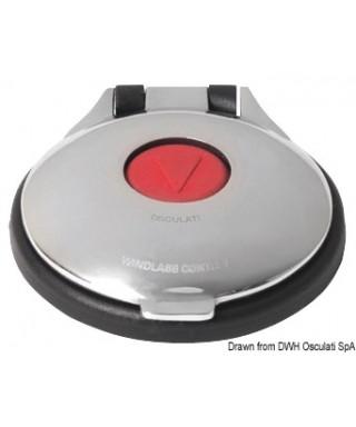 Contacteur à pied pour guindeau Inox 316 rouge