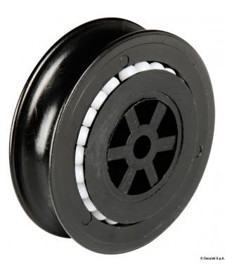 Poulie 10 mm en nylon montées sur billes en Delrin®