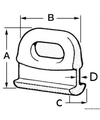 Coulisseau nylon pour grand-voile 14 mm