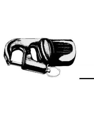 Embout de tangon 40 x 2 mm noir