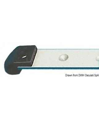 Rail aluminium anodisé 22x3mm barre de 2m
