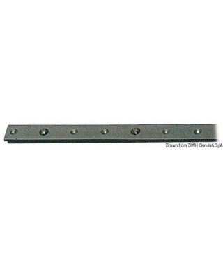 Rail aluminium anodisé + PTFE 22x3mm barre de 2m