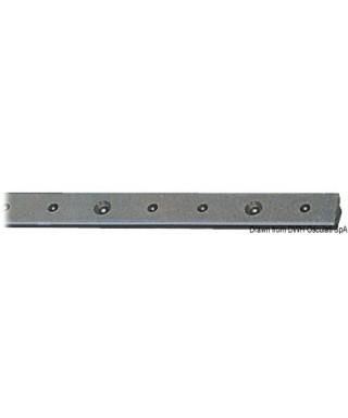 Rail aluminium anodisé + PTFE 25x4mm barre de 2m