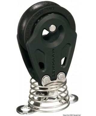 Réa simple sur ressort Control diamètre 40mm pour bouts 10mm noire