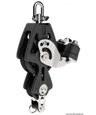 Réa avec ringot et coinceur Synchro 50mm pour bouts 6-10mm charge maxi 450Kg