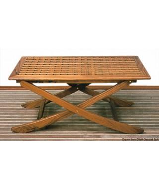 Table teck pliante 110x70 cm ouverte 110x70x14 cm repliée