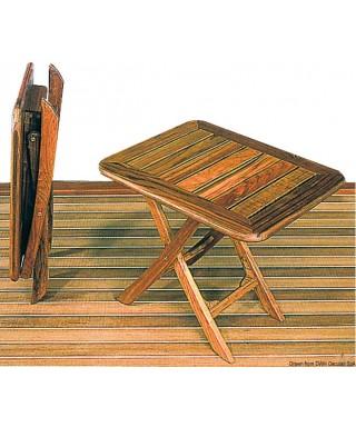 Table pliable teck 50x40 cm réglable en hauteur