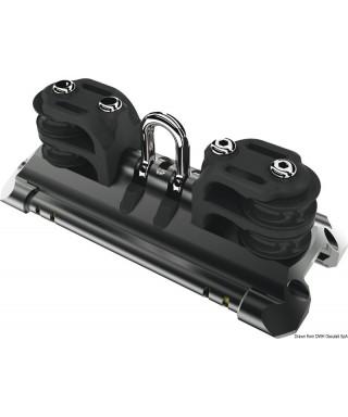 Mainsheet car size 2 shackle double control sheave