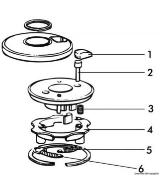 goupille en inox pour couplage winch à 3 vitesses