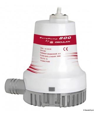 Pompe de cale immergée Europump II 1100 12V Débit 60 L/m