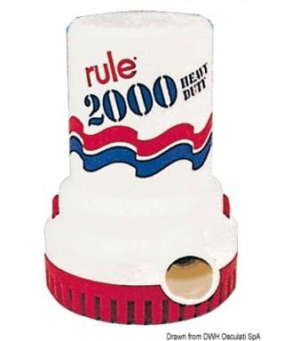 Pompe immergée Rule 2000 12V Débit 135 L/m
