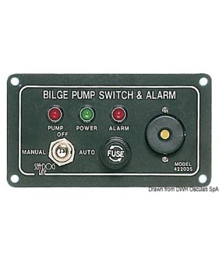 Tableau pompe de cale 12V avec alarme lumineuse et sonore