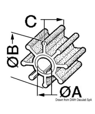 Turbine Jabsco Réf. d'origine 17240-0001 18789-0001