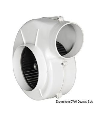 Aspirateur centrifuge avec étrier 24V 16A Débit 1000 m3/h