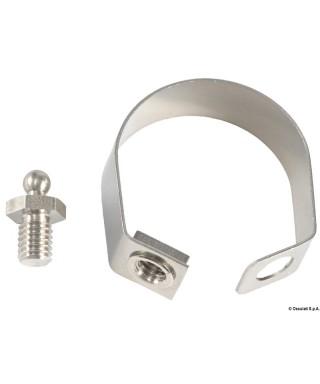 Collier de serrage inox pour boutons Tenax 25 mm