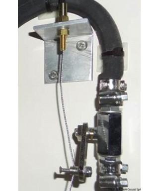 Etrier inox pour commande flexible à distance carburant