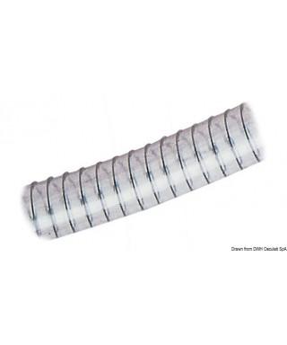 Tuyau avec spirale 70 x 86 mm EnPVC transparent