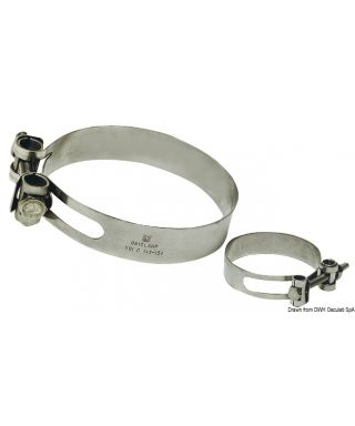 Collier de serrage Heavy Duty Inox 316 238/250 mm