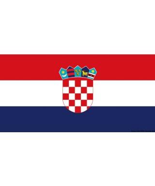 Pavillon Croatie 20 x 30 cm en tissu de polyester teintes indélébiles