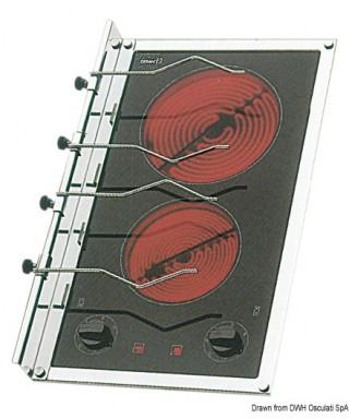 Plan cuisson électrique vitrocéramique 2 feux 1800W et 1200W