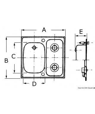 Plan cuisson SMEV Modèle D droit 2 feux petit