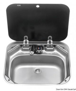 Evier SMEV avec robinet 420x440 mm