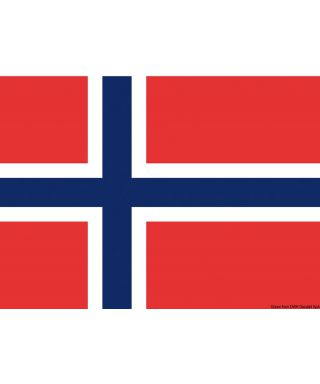 Pavillon Norvège 20 x 30 cm en tissu de polyester teintes indélébiles