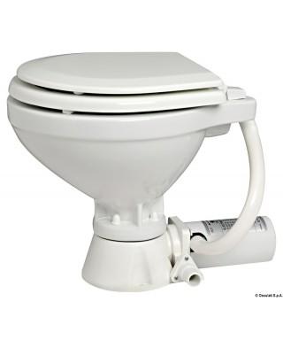 WC électrique compact siège bois 24V