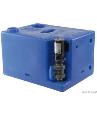 Réservoir eaux usées avec broyer 24V 112 L