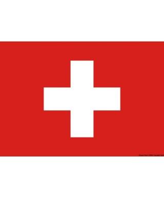 Pavillon Suisse 50 x 75 cm en tissu de polyester teintes indélébiles