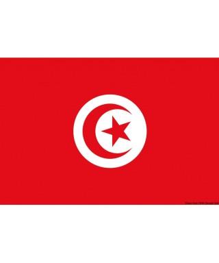 Pavillon Tunisie 40 x 60 cm en tissu de polyester teintes indélébiles