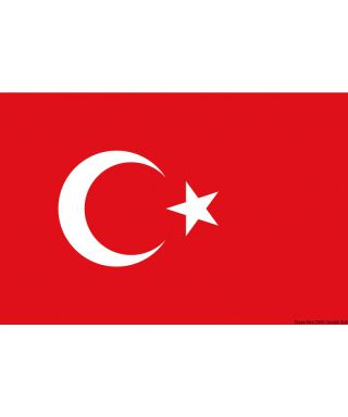 Pavillon Turquie 20 x 30 cm en tissu de polyester teintes indélébiles