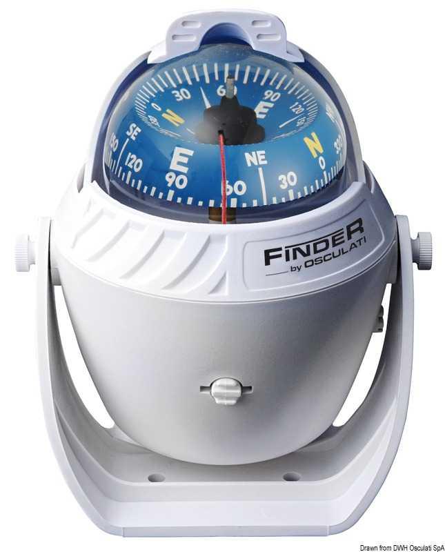"""Compas Finder 2""""5/8 avec étrier blanc/bleu"""