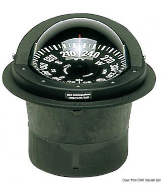 """Compas 5"""" RIVIERA BW3 Eclairage 24V Pour petites colonnes voilier"""