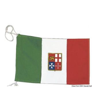 Pavillon Italien Marine Marchande 130 x 200 cm en polyester épais