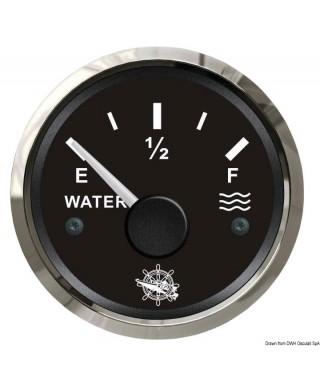 Jauge niveau d'eau 10-180 Ohm Cadran noir lunette polie 51mm
