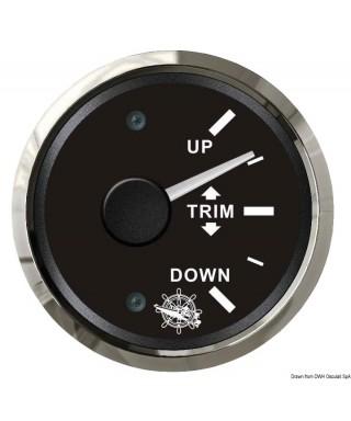 Indicateur de trim 0/190 Ohm Cadran noir lunette polie 51mm
