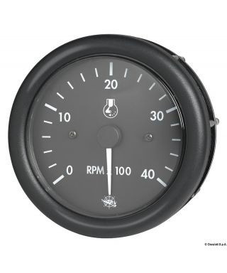 Compte-tours Guardian diesel 0-4000 RPM 24V Cadran noir lunette noire