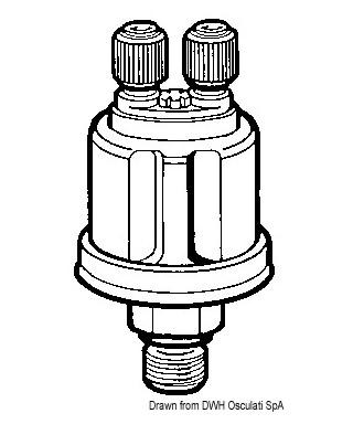 Bulbe pression huile double VDO 25 bar 1/8-27 NPT pôles isolés