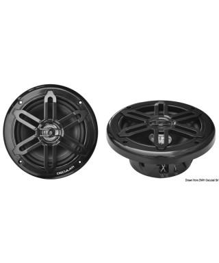 Enceintes double cône 166mm 2x80W Noir WATERPROOF UV RESISTANT