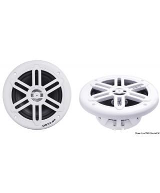 Enceintes double cône 232mm 2x180W Blanc WATERPROOF UV RESISTANT