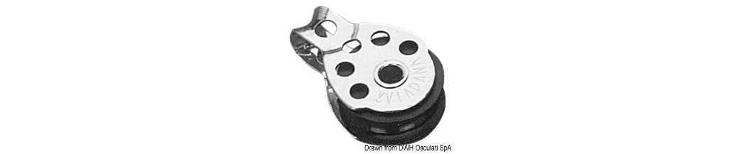 Mini poulies série Regatta VIADANA pour bouts jusqu'à 8 mm