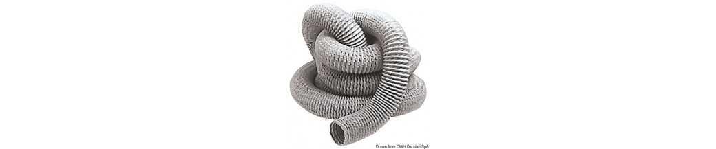 Tuyau pour aspirateurs en fibre de verre et PVC avec armature métallique