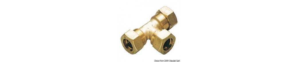 Raccords à compression en laiton pour tube en cuivre avec joint 0 Ring