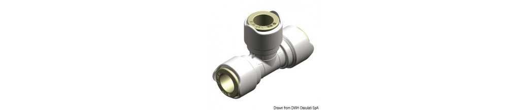 Raccords express Ø 15 mm pour systèmes hydrauliques WHALE